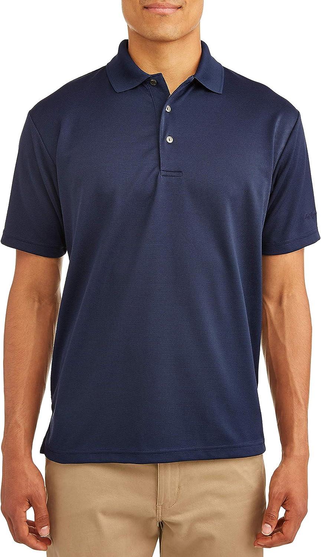 Ben Hogan Men's Short Sleeve Performance Polo Shirt (Medium 38/40, Peacoat)