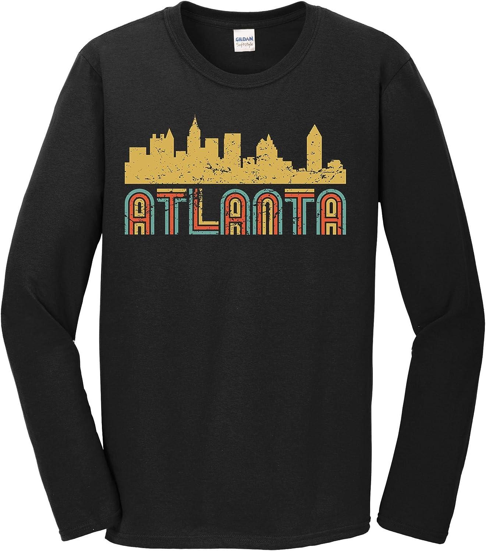Retro Atlanta Georgia Ranking TOP8 Skyline T-Shirt Long Sleeve Kansas City Mall