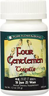 Plum Flower Brand, Four Gentlemen Teapills (Si Jun Zi Wan) 200 ct, Net Wt. 1.2 0z