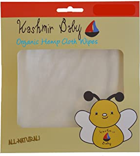 20 Organic Cloth Wipes with Hemp and Bamboo by Kashmir Baby (20 Pack)