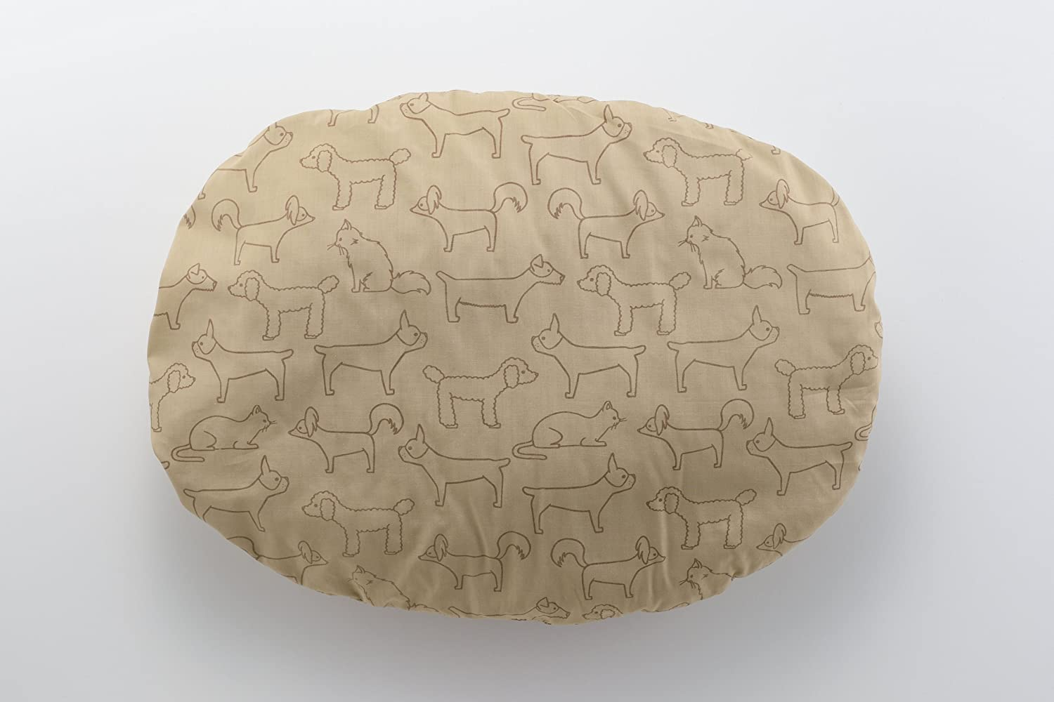 Richell pet cushion oval M Brown dog cat small animal (japan import)