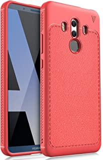 KuGi Huawei Mate 10 Pro Case, (Scratch Resistant) Flexible Soft TPU Case for Huawei Mate 10 Pro Smartphone(Red)