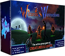 Starlux Games Wizards & Werewolves: an Active Outdoor Group Game with Hide and Seek, Tag and Glow-in-The-Dark Elements - Perfect for RPG, DND, LARP and Costume Fantasy Fans