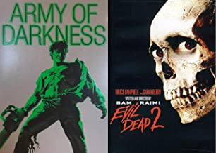 Ash and Friends Find the Book of the Dead Sequel Bundle - Sam Raimi's Evil Dead 2 & Army of Darkness (Exclusive Glow-In-The-Dark Slipcover) (Screwhead Edition) 2-DVD Bundle