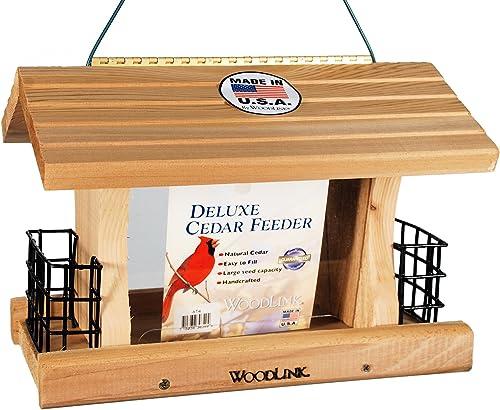 Woodlink-Deluxe-Cedar-Bird-Feeder-with-Suet-Cages-Model-AT4
