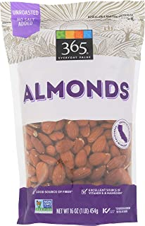 365 Everyday Value Almonds, Raw unsalted, 16 Ounce