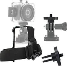 DURAGADGET Emerson Action Camera Helmet Mount - Anti-Slip Replacement Head/Helmet Strap Mount for New Emerson HD Action CAM EVC455