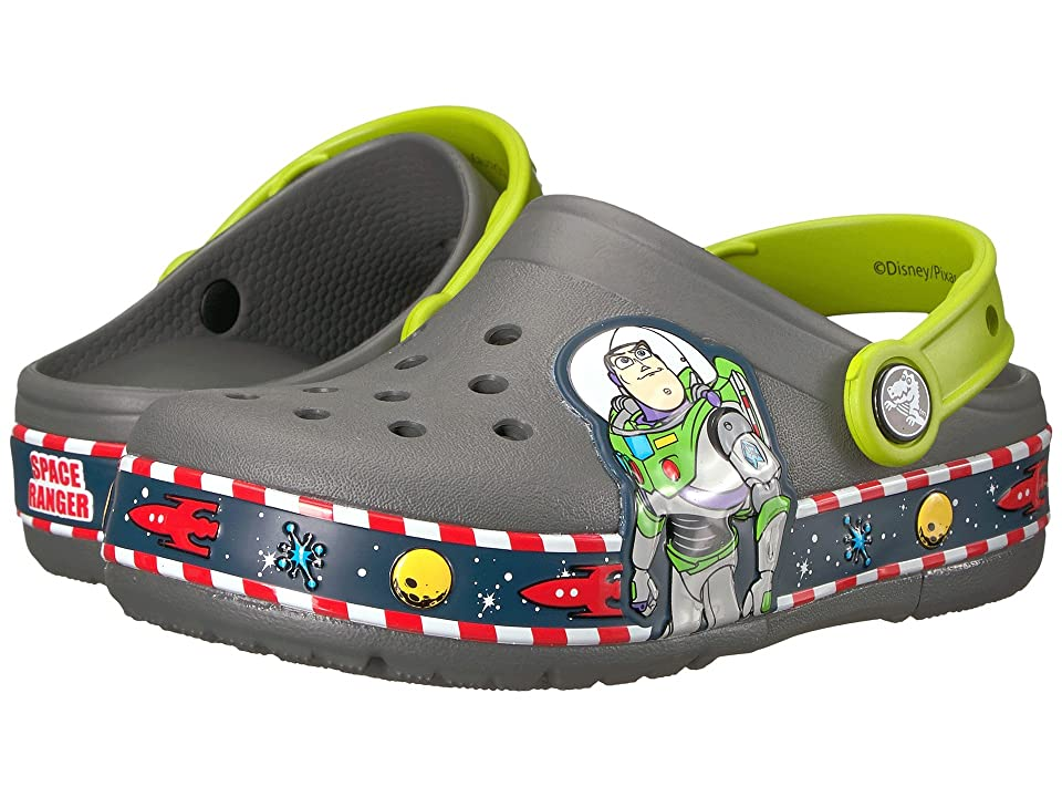 Crocs Kids Crocband Fun Lab Buzz Lights Clog (Toddler/Little Kid) (Slate Grey) Kids Shoes