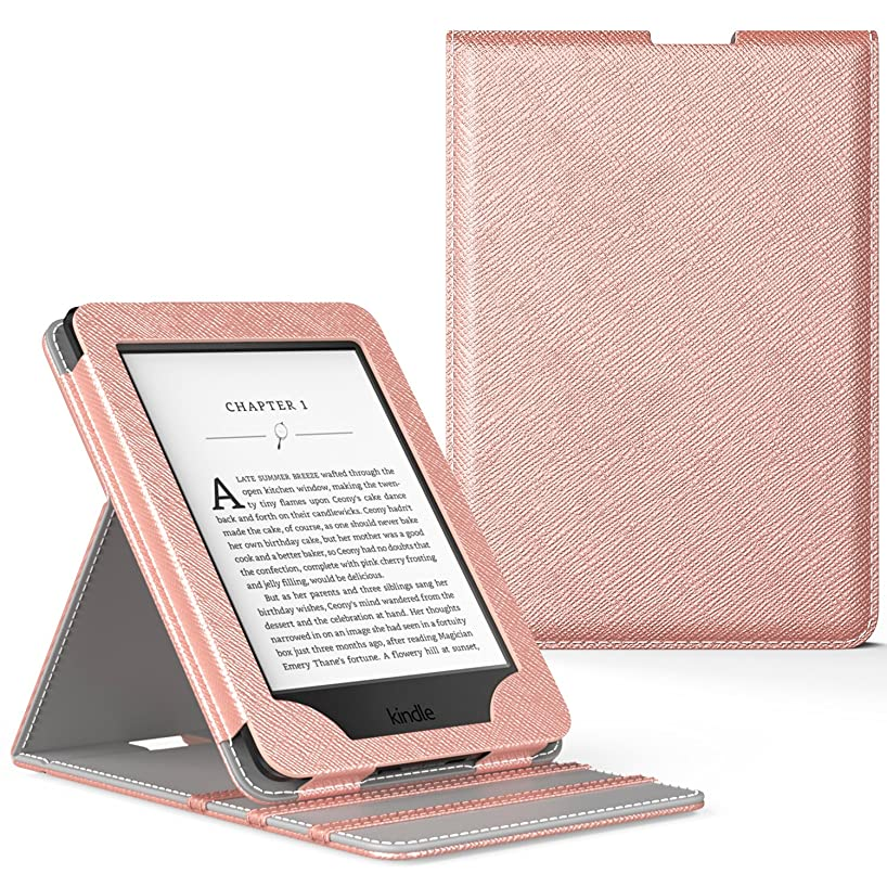 MoKo Case for Kindle Paperwhite, Premium Vertical Flip Cover with Auto Wake/Sleep Fits All Paperwhite Generations Prior to 2018 (Will not fit All-New Paperwhite 10th Generation), Rose Gold