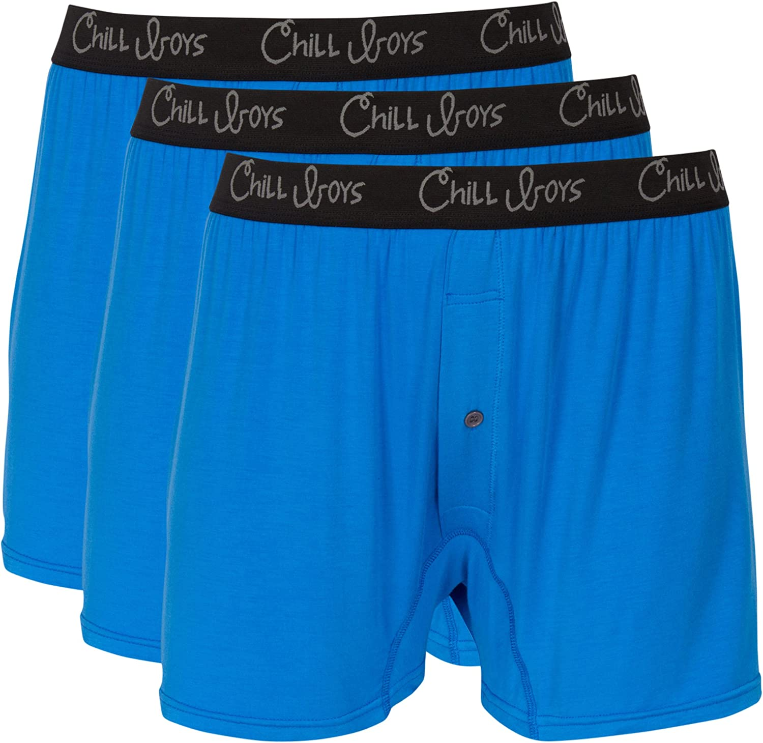 Soft Bamboo Mens Boxers 3 Pack - Cool, Comfortable Bamboo Underwear by Chill Boys