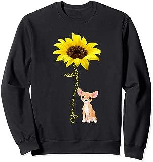 Sunflower Chihuahua Dog Lover Mom Mama Mother Sweatshirt