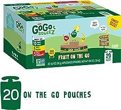 GoGo squeeZ Applesauce on the Go, Variety Pack (Apple Apple/Apple Banana/Apple Strawberry), 3.2 oz (20 Pack)