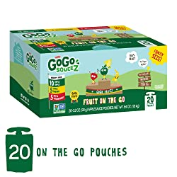 GoGo squeeZ Applesauce on the Go, Variety Pack (Apple Apple/Apple Banana/Apple Strawberry), 3.2 Ounc