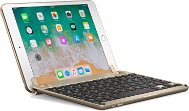 BrydgeMini Bluetooth iPad Mini 1,2 and 3 Keyboard. Backlit, Aluminum, Detachable, Rotating Hinges, 180 Degree Viewing. (Gold)