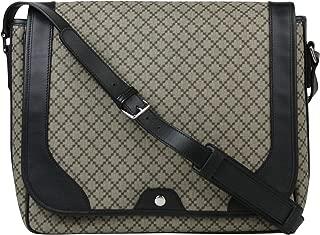 Gucci Men's Supreme Beige/Ebony Diamante Canvas Messenger Bag 295251 9769