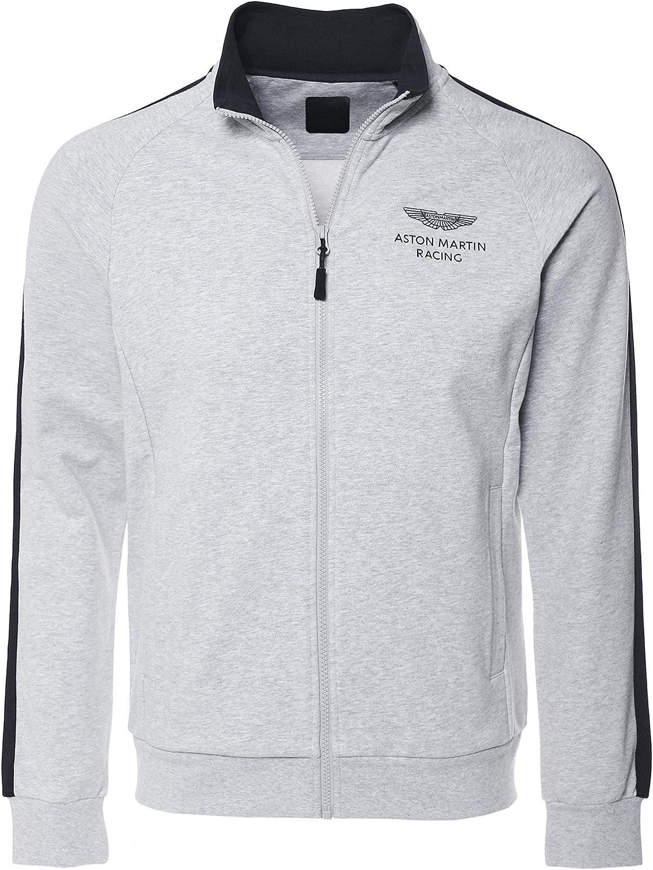 Hackett Men's Stretch Cotton Zip-Through Sweatshirt Grey