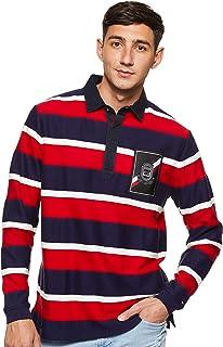 Tommy Hilfiger Men's Herringbone Textured Rugby Sweater