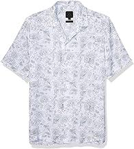 A|X Armani Exchange mens Paisley Short Sleeve Button Down Shirt Shirt
