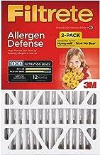 Filtrete 20x25x4, AC Furnace Air Filter, MPR 1000 DP, Micro Allergen Defense Deep Pleat, 2-Pack (Renewed)
