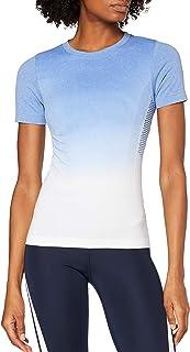 Marca Amazon - AURIQUE Top de Deporte sin Costuras Mujer