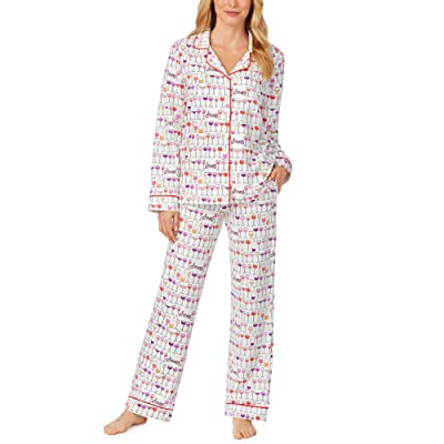 BedHead Pajamas Long Sleeve Classic Notch Collar Pajama Set (Happy Hour) Women