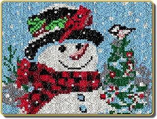 Lanrui Kit de Crochet de loquet à Aiguilles, Coussin de Crocheting inachevé Coussin de Fils de Tapis de Broderie, Kits de ...