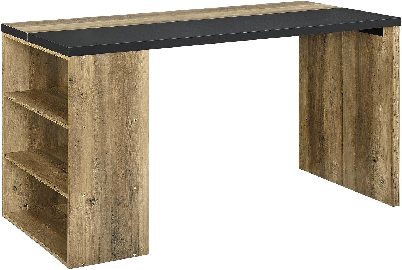 [en.casa] Design Schreibtisch 140x68x77cm Stilvoll Arbeitszimmer Arbeitstisch Computertisch Holzfarben Grau