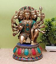 StatueStudio Handmade Panchmukhi Hanuman Murti for Entrance Door Bajrangbali Murti for Temple Pooja Vastu Decorative Showp...