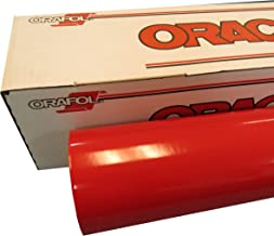 """ORACAL 24"""" x 30 Ft Roll of Glossy 651 Red Vinyl for Craft Cutters and Vinyl Sign Cutters"""