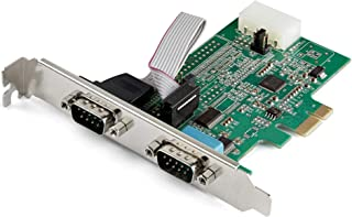 StarTech.com シリアル2ポート増設PCI Expressカード 2x RS232Cポート拡張PCIeボード 16950 UART内蔵 Windows & Linux対応 PEX2S953