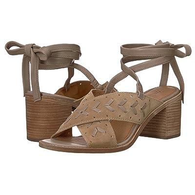 Frye Bianca Woven Perf Ankle Strap (Beige) Women