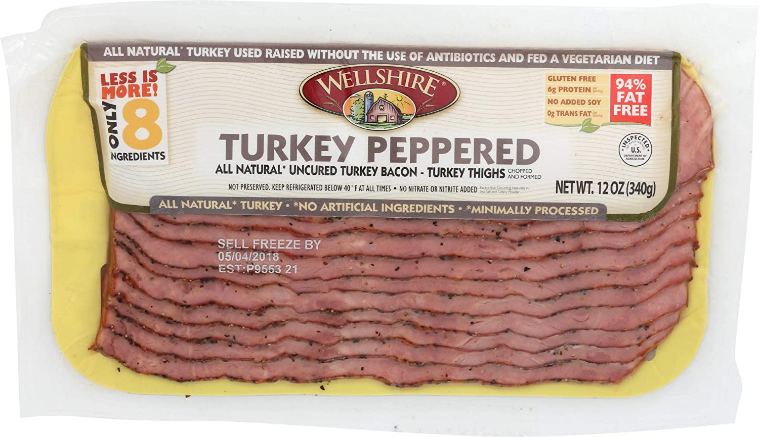 Wellshire Product Farms Peppered Turkey oz security 12 Bacon