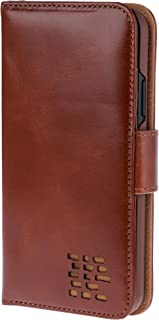 iPhone X - iPhone Xs - Real Leather Wallet Case- Premium Leather – Made for Right Handed Users – Avoid Card Corruption – Great Customer Service – Repurposable Packaging - Vintage Brown