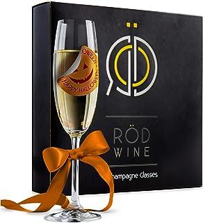 comprar comparacion ROD Wine Juego de Copas de Champán - Copas de Boda en Cristal de Titanio sin Plomo, con una Taza Grande 220 ml Bodas, Fies...