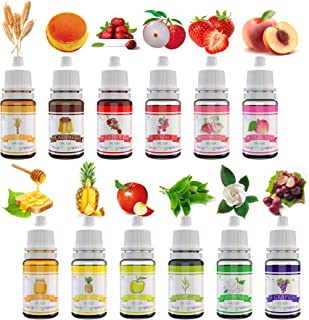 Huile Parfum Savon - 12 Fragrance pour Savon, Parfums Liquide pour la Fabrication Bombes de Bain, Fabrication Savon, Brico...