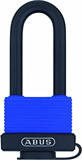 ABUS 70/45 All Weather Solid Brass Padlock Keyed Different - Long Stainless Steel Shackle (2-1/2