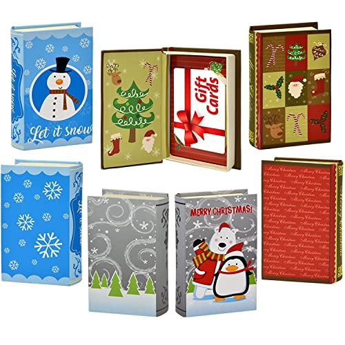 233c41fbae 9 Christmas Gift Card Holder Elegant Book Box Holiday Designs with Magnetic  Closure