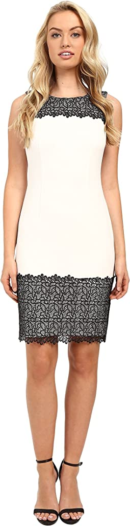 Sheath with Lace Detail