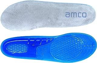 Semelles /à absorption de chocs avec gel de massage pour course ou randonn/ée blue and cream UK 5-8