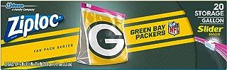 Ziploc Brand NFL Green Bay Packers Slider Gallon, 20 ct