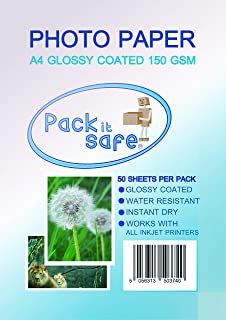 Packitsafe 500 Sheets A4 150GS m Photo Paper Professional Glossy Paper 210 x 279mm 150Gl50