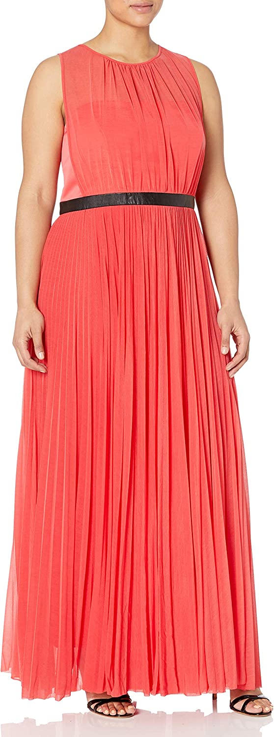 ABS by Allen Max 50% OFF OFFicial site Schwartz Women's Gown Sheer Plus-Size Pleated with