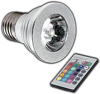GU5.3 3W=20W RGB LED Farbwechsel Strahler Spot Lampe mit IR Fernbedienung 220LM