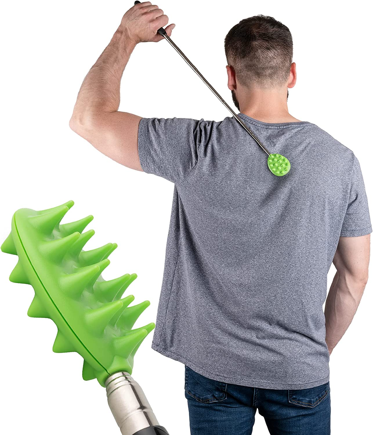 New sales Extendable Cactus Back Scratcher Max 88% OFF Relieves Itching ABS Plastic