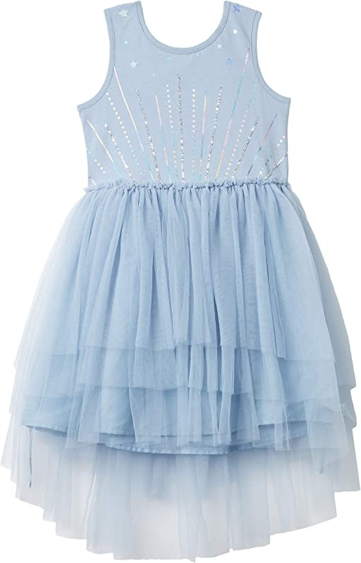 Dusty Blue Tiered/Sparkle Stars