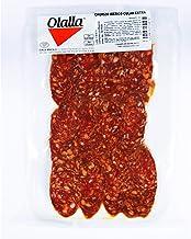 Chorizo Cular Iberico Loncheado - Embutidos Ibericos de Bellota Pata Negra - Envasados al Vacio - Aromático y Especiado con Pimentón de la Vera Ajo y Sal Marina - Elaboración Tradicional - 100 gr