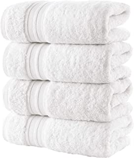 Hammam Linen White, White, 6 Pack Hand Towels