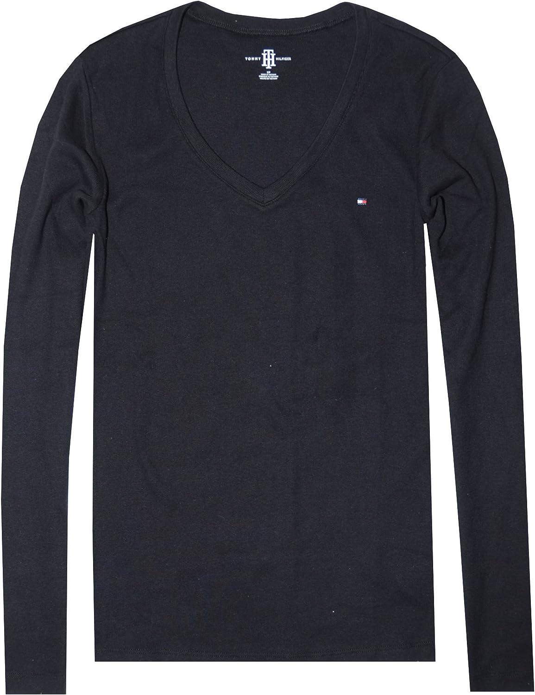 Tommy Hilfiger Tjw Jersey V Neck Longsleeve Camisa para Mujer