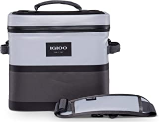 Igloo Reactor Portable 18 Can Soft Sided Insulated Leakproof Waterproof Zipper Cooler Bag with Shoulder Strap for Hiking, ...