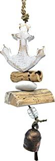 Ella Sussman Sailboat Anchor Boat Bleached Driftwood Outdoor Wind Chime Soothing Nana Bell